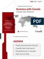 Canada-Italy Relations Presentation - Embassy of Canada