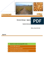Ferrero Group Presentation - Agricultural Initiatives