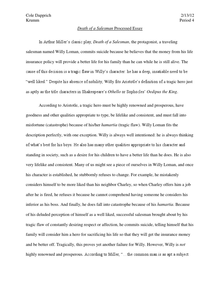 How To Write A Synthesis Essay  Library Essay In English also Businessman Essay Death Of A Salesman Processed Essay  Tragedy  Disaster And Accident Essay Samples For High School Students