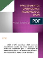 Procedimentos Operacionais Padronizados (POP)