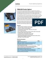 Afl Fsm-60s Splicer spec sheet