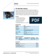 AFL CT 10A Fiber Cleaver spec sheet