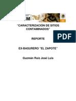 Reporte Ex-Basurero _el Zapote