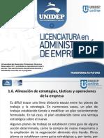 SEM 1 TEMA 1 Alineacion de Estrategias, Tacticas y Operaciones de La Empresa