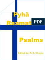 Finnish Holy Bible Psalms R S Chaves PDF
