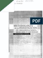 Metodología de la investigación en organizaciones, mercado y sociedad