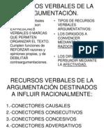 RECURSOS LINGUÍSTICOS O VERBALES DE LA ARGUMENTACIÓN