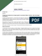 PC WORLD - Mais de 30 Dicas Para Dominar o Android