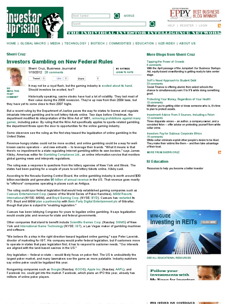 What is the federal legislation related to internet gambling tuscany suites and casino las vegas
