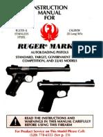 Firearms - Manual - Ruger Mark II Pistol