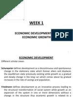 Week 1- The Concept of Economic Development