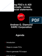 Using FSG and ADI to Create and Review Financial Statement