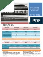 Ismar Daily Forecast 19 June 2012