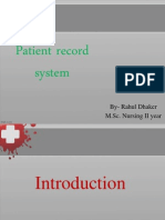 Patient Record System....