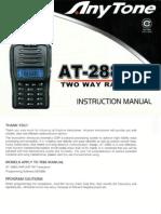 Anytone at-288g Instruction User Manual