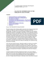 Rosenfarb (1992). a Behavior Analytic Interpretation of the Therapeutic Relationship