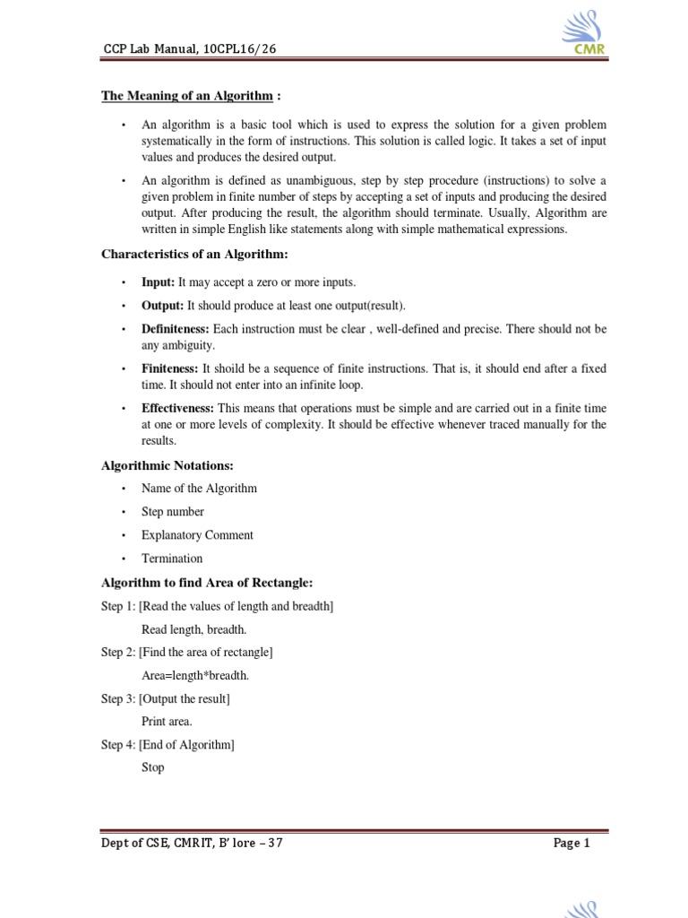 ccp lab manual2010 algorithms c programming language rh scribd com Hardware Testing Lab Pearson My Programming Lab