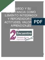 EL JUEGO Y SU IMPORTANCIA COMO ELEMENTO INTEGRADOR