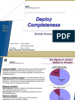 Ecolab Redeployed Systems Six Sigma Case Study 03-16-03