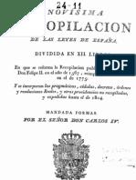 26712207 Novisima Recopilacion de Las Leyes de Espana T 1 1805