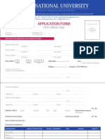 Application Form JNU