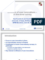 Diffusion of user innovations – A firm-level survey  Kuusisto ISPIM 2012
