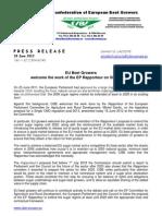 CIBE Press Release 18 June 2012
