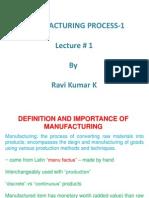 Manufacturing Process-I