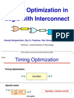Timing Optimization in Logic with Interconnect