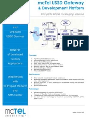 Mctel Ussd Gateway | Short Message Service | Multimedia