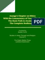Mark Tatz_Asanga's Chapter on Ethics With the Commentary of Tsong-Kha-Pa_1986