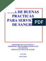 GUIA DE BUENAS  PRACTICAS  PARA SERVICIOS  DE SANGRE