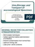 1-Collection,Storage and Transportataion of Microbiological