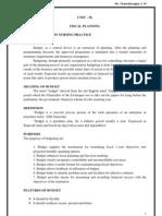 Unit-ix Fiscal Planning New 1