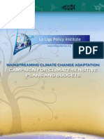 Mainstreaming Climate Change Adaptation Through Climate-Sensitive Plans and Budgets