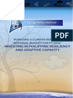 Pursuing a Climate-Sensitive National Budget for FY 2012