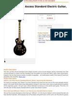 Gibson Les Paul Axcess Standard Electric Guitar, Stopbar, Ebony