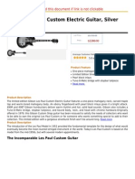 Gibson Les Paul Custom Electric Guitar, Silver Burst