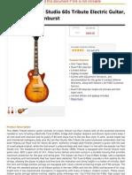 Gibson Les Paul Studio 60s Tribute Electric Guitar, Worn Cherry Sunburst