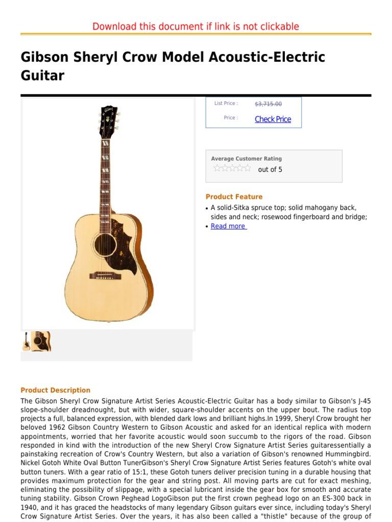 Gibson Sheryl Crow Model Acoustic Electric Guitar Guitars
