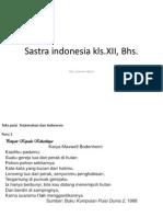 Materi Sastra Indonesia 2 Kls XII.
