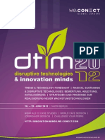 Disruptive Technologies & Innovation Minds 2012_agenda
