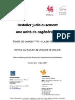 Cahier des charges cogénération-2012
