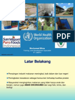 Food Safety San Miguel Pure Foods Indonesia 2012