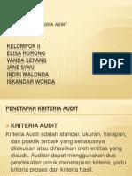 Menentukan Kriteria Audit