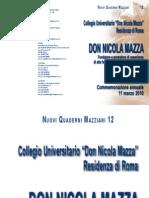 Commemorazione Don Nicola Mazza 11 marzo 2010