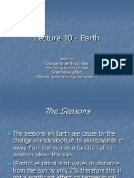 Lecture 10 - Seasons and Climate Changes