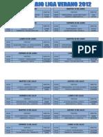Calendario Liga Verano 2012