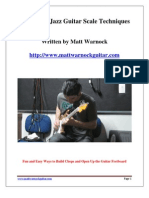 5 Essential Jazz Guitar Scale Techniques