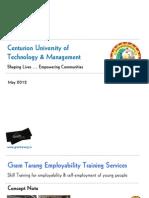 Centurion University SVT & GTET Presentation 2012-13 v 1-1